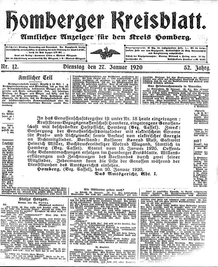 Das Homberger Kreisblatt